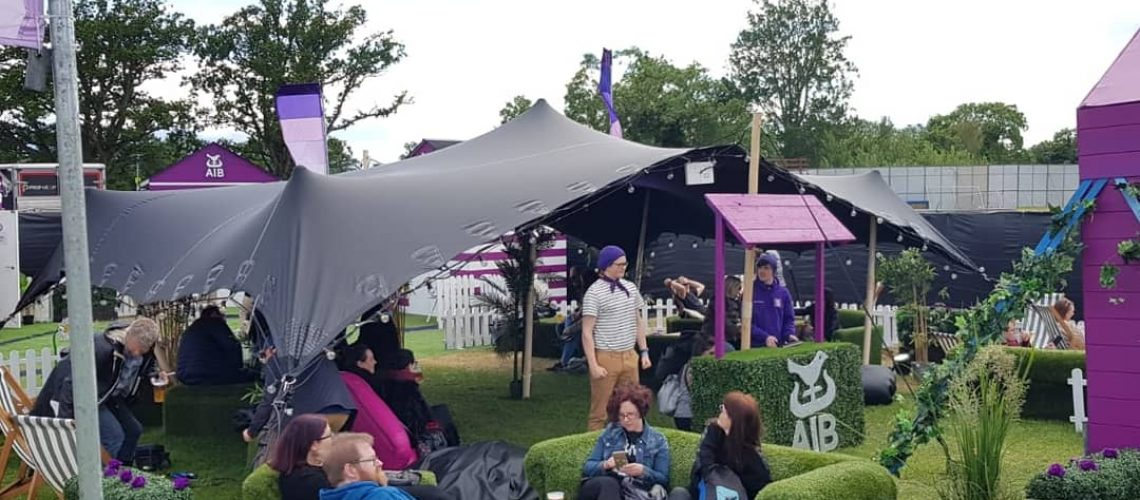 AIB - Malahide Concert series. Stretch installation and event production.